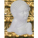 Cute Buddha Child with peace symbol Cute glossy white statue of the Buddha Child with hand held in universal symbol of peaceMade from polystone Please Click the image for more information.