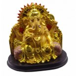 Gold Ganesha statue sitting Gold Ganesha statue sitting made from stone and resin and comes in gorgeous padded gift box with storyP. Please Click the image for more information.