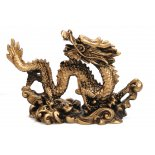 Brass finish Dragon statue Brass finish Dragon statueBrass finish Dragon statue made from stone and resin composite Comes in gorgeous gift box and story card. Please Click the image for more information.