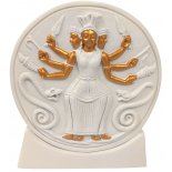 Hecate` Ivory & Gold on Stand 156mm Hecate statueProtector of Daily Life Birth Death and Wild AnimalsMaiden Mother and Wise WomanIn predynastic Egypt the matriarch or wise woman of the tribe was called the heq Hecate was worship. Please Click the image for more information.