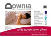 Downia White Goose Down pillow This luxurious white goose down pillow will provide the softest and most comfortable nights sleep It is encased in a luxury soft cotton fabric with 5cm outer walls . Please Click the image for more information.
