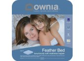 Downia Feather Bed Mattress Topper This feather bed styled mattress topper will enhance the comfort of your mattress with its soft feather and down filling. Please Click the image for more information.