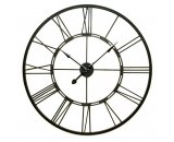 Wrought Iron Wall Clock 101cm A stunning timepiece that will add a touch of drama to any wall Features roman numerals and metal handsR. Please Click the image for more information.