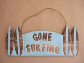 Gone Surfing Sign with surfboards  Please Click the image for more information.