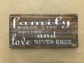 Family Where Life Begins Sign  Please Click the image for more information.