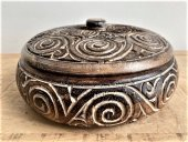 Triibal Carved Bowl With Lid  Please Click the image for more information.