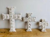 Set Of 3 Shell Crosses  Please Click the image for more information.