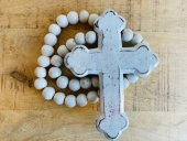 Wooden Cross On Beads  Please Click the image for more information.