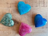 Coloured stone hearts  Please Click the image for more information.