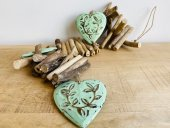 Garland Of Carved Heart & Wood  Please Click the image for more information.