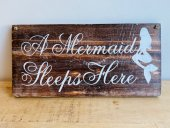A Mermaid Sleeps Here Sign  Please Click the image for more information.