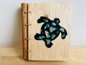 paua shell inlayed notebook  Please Click the image for more information.