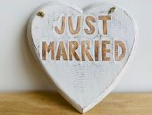 Heart Just Married(carved)  Please Click the image for more information.