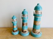 Set Of 3 Wooden Lighthouses  Please Click the image for more information.