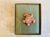 leaf note book with wooden animal carvings  Please Click the image for more information.