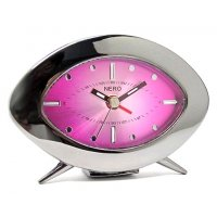 Tracey Alarm Oval retro alarm with sun ray dial and gunmetal case Please Click the image for more information.