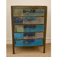 Savoy Unique 5 drawer cabinet made from recycled metalBeautiful individual piece is classic retro style. Please Click the image for more information.