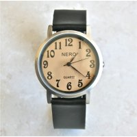 Soho Beautiful stylish retro design watch with brushed case and sepia dial An understated plain leather band complements the clean cut designPer. Please Click the image for more information.