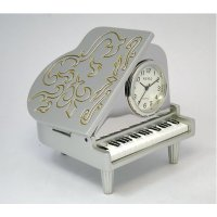 Grand Piano This grand pIano mini clock features beautiful detailing with silver trimIt is available in classic black and matt silver finishes. Please Click the image for more information.