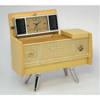 Retro radio This sleek  retro radio  mini clock has great detail and a cool folding topThe metal is finished in a teak wood colour reminiscent of the 1960sFabu. Please Click the image for more information.