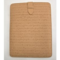 Recycled leather ipad sleeve The Iliad ipad sleeve is made from recycled leather in a beautiful soft natural finishClassic script embossing makes this is a stunning design piece of old world meets new. Please Click the image for more information.