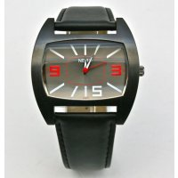 Tyson N E R O Tyson is a stunning watch The bold black case is cool with graphite dial and red highlight and black leather band . Please Click the image for more information.