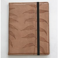 Daintree  leaf ipad cover The Daintree leather  ipad tablet cover features a unique imprint of a natural leafThe leather is tanned by a traditional organic process without the use of chemicals. Please Click the image for more information.