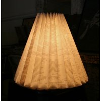 Script light shade Classic shape pleated light shade with script designHeld by magnetic closure it is light and easily assembled over an existing light fitting for soft meed lightingStu. Please Click the image for more information.