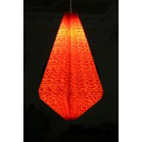 Diamond red light shade Classic diamond shape pleated light shade with a red marbled designHeld by magnetic closure it is light and easily assembled over an existing light fitting for soft meed lightingStu. Please Click the image for more information.