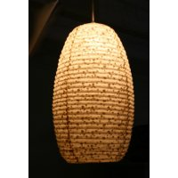 Gold Spotted light shade This hand made paper shade with small gold spots on a natural background gives a soft diffuse light Please Click the image for more information.