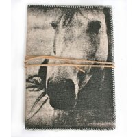 Horse Journal Designed by NERO and inspired by the natural beauty of the Adelaide Hills in South Australia this beautiful horse design is hand printed on a washed canvas cover and tied by a natural leather string . Please Click the image for more information.