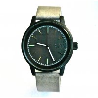 NERO Bentley The NERO Bentley is a minimal  design watch with sandblasted black matt case offset by a charcoal dial and a touch of accent colour on indices 6 9 12A nubuck Italian leather band adds natural texture and complements the clean cut design. Please Click the image for more information.