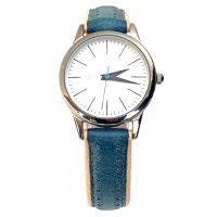 Alessandra Retro style watch has a smaller classic easy to read dial and a stunning leather band with off set contrast detail. Please Click the image for more information.
