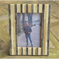 Scandinavian woods Hand made natural bone photo frame has complimenting natural coloursSlight differences in tones add a unique finish which is not mass produced. Please Click the image for more information.