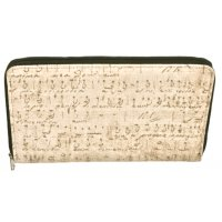 Canvas music series travel wallet The old music design is hand printed on a washed canvas cover Inner compartments hold passports travel itinerary and documents for easy accessA gr. Please Click the image for more information.
