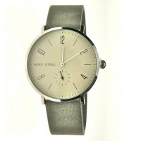 NERO STEEL Byron The N E R O STEEL  Byron is designed in our studios in the Adelaide Hills of South AustraliaThis minimal design stainless steel watch features slim white hands to complement  the soft smoky gey dial  and a separate seconds dialA . Please Click the image for more information.