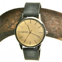 Henley  The N E R O Henley watch is designed in our studios in the Adelaide Hills of South AustraliaThis minimal design watch has a retro sanded gold dial offset by a polished sleek caseAn. Please Click the image for more information.