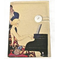 Canvas art deco piano girl Designed by NERO in the  Adelaide Hills in South Australia the piano journal  features an old art deco print on washed natural canvasPages are lined and in separate sections An. Please Click the image for more information.