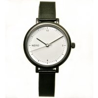 Zara  Designed in Australia by NERO this version of the Zara watch has a clear white dial  black numbers and white second hand to create an individual bespoke watchA. Please Click the image for more information.