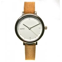 Zara - camel Designed in Australia by NERO  this Liana watch has a clear white dial  black numbers and white second hand to create an individual bespoke watchA. Please Click the image for more information.