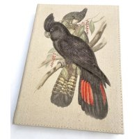 Australian Black Parrot Journal Designed by NERO and inspired by the natural beauty of the Adelaide Hills in South Australia this beautiful native black parrot design is hand printed on a washed canvas cover P. Please Click the image for more information.