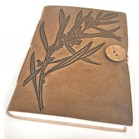 Australian Wattle leather Journal -1 Absolutely stunning  series of leather journals  designed by NERO and inspired by the natural beauty of our garden in the Adelaide Hills in South Australia. Please Click the image for more information.