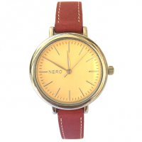 Zara Designed in Australia by NERO  the Zara watch has a vintage retro sepia dial with a minimal feelA polished silver case and red Italian nubuck leather band combine a touch of the past with a modern twistAn . Please Click the image for more information.