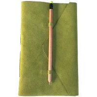 Medici  Designed by NERO in Australia this classic natural  leather  suede journal has a  simple pencil closure for a minimal contemporary look in soft natural lime tonesThe pages are hand made from recycled cotton and  are acid free and wood free. Please Click the image for more information.