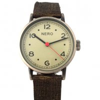 Veneto earth Beautiful stylish retro design watch with brushed case and sepia dial with accent red second handAn understated Italian leather band adds texture and complements the clean cut designPer. Please Click the image for more information.