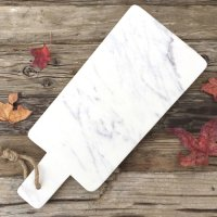 Agra natural marble Made from a piece of thick natural white marble with a natural rope tie on the handle the elongated Agra cheeseboard is perfect for alfresco entertainingClassic  minimal  natural Please Click the image for more information.