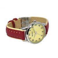 Marissa NERO Marissa retro style watch has a smaller classic easy to read dial and a stunning leather band with off set contrast detail. Please Click the image for more information.