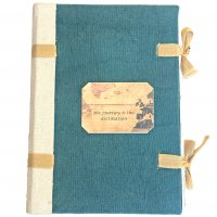 Paris Journal Paris journal with natural bow ties has hand made rough hand torn pages and hard canvas cover in a classic style reminiscent of a past era. Please Click the image for more information.