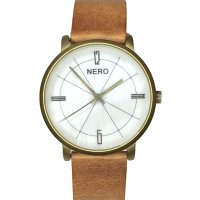 Alexia honey Alexia by N E R O is a classic design with a subtle genuine mother of pearl dial The gentle glow of the dial and the natural brass hands wonderfully compliment the natural solid brass case and the bespoke Italian leather bandThe. Please Click the image for more information.