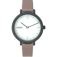 Zara dusty pink Designed in Australia by NERO this version of the Zara watch has a clear white dial  black numbers and white second hand to create an individual bespoke watchA. Please Click the image for more information.